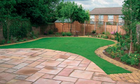 Budding ideas large landscaped garden design for Large patio design ideas